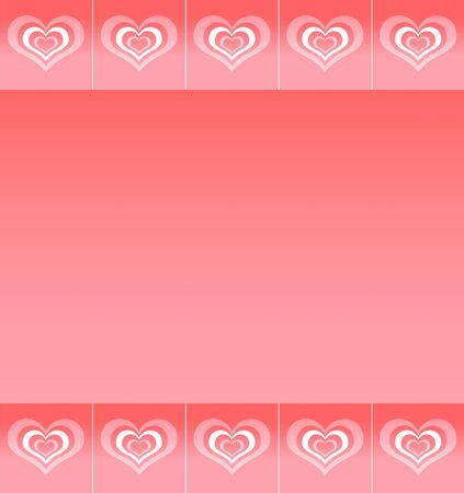 Background with pattern of abstract stylized love symbols  photo