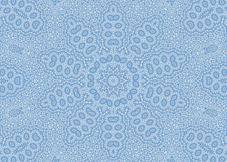 kaleidoscopic: Blue abstract ornamental background