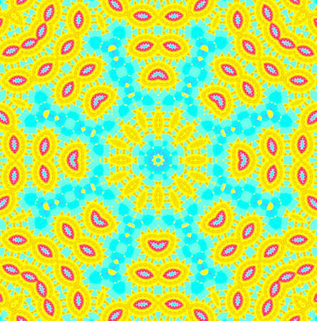kaleidoscopic: Bright background with abstract pattern Stock Photo