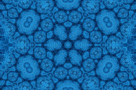 kaleidoscopic: Background with abstract blue pattern