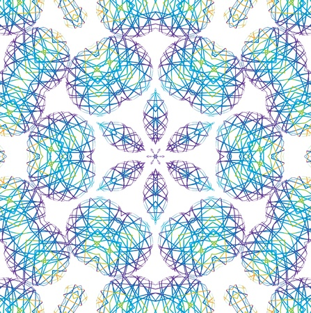 kaleidoscopic: Abstract background with color shapes of lines Stock Photo