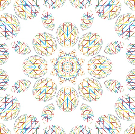 kaleidoscopic: Abstract background with shapes of thin color lines