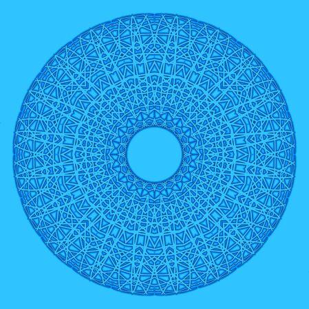 hape: Estratto hape radiale con pattern su sfondo blu