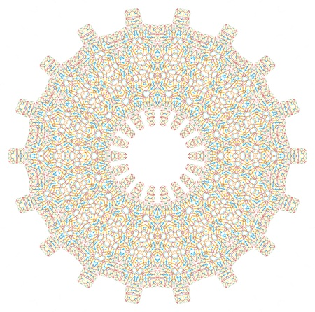 circle design: Abstract color shape on white
