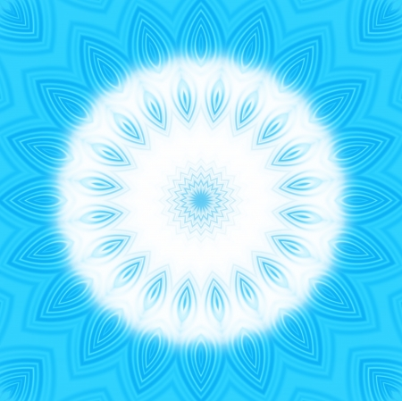 Bright blue background with abstract radial pattern  photo