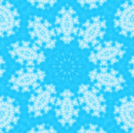 Blue background with abstract winter pattern photo