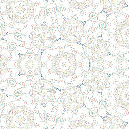 kaleidoscopic: White background with abstract color pattern