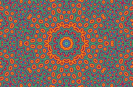 kaleidoscopic: Bright background with abstract color pattern Stock Photo
