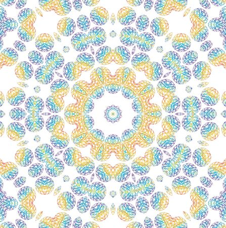 kaleidoscopic: Background with abstract color pattern on white Stock Photo