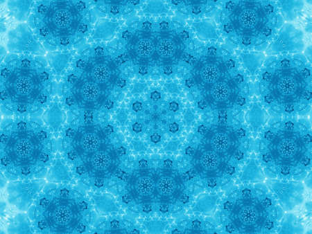 Blue background with abstract fresh pattern photo
