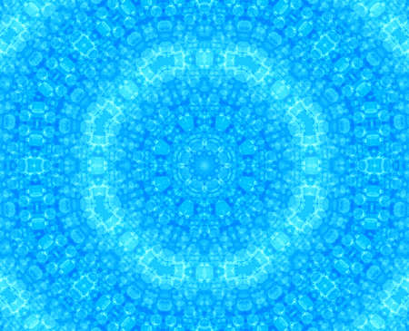 Blue abstract background with bubbles pattern photo