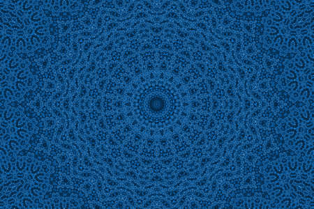 Blue background with abstract radial pattern photo