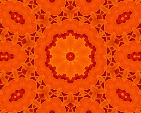 Background with abstract orange concentric pattern photo