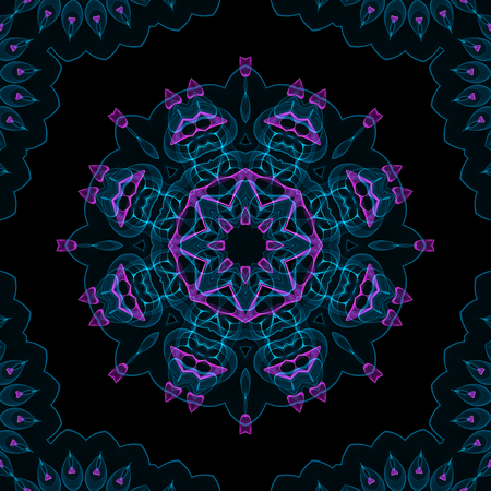 Abstract color digital fume pattern on black background photo