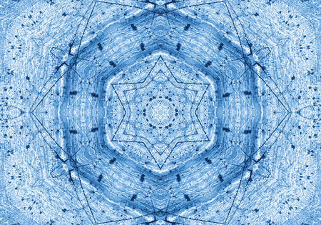 Blue background with abstract grunge pattern photo