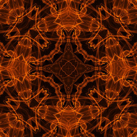 Black background with bright abstract fire pattern photo