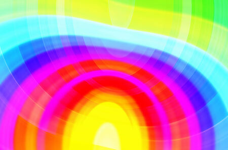Bright abstract background of blurred curved color strips Stock Photo