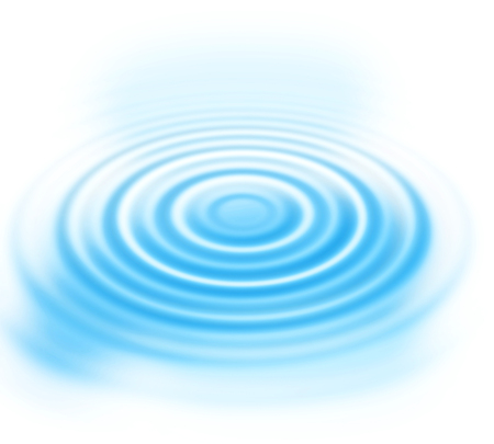 Abstract background with blue radial water ripples