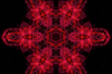 Bright abstract red light pattern on black background photo