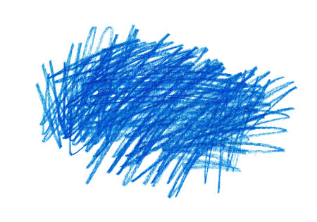 Abstract blue hand drawn design element photo