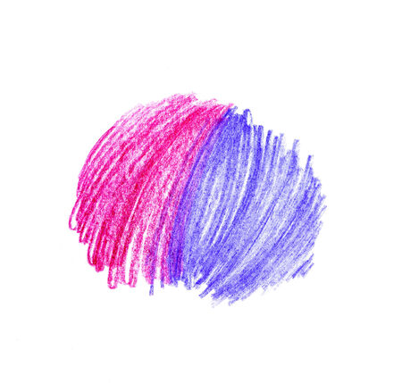 Abstract color hand drawn design element photo