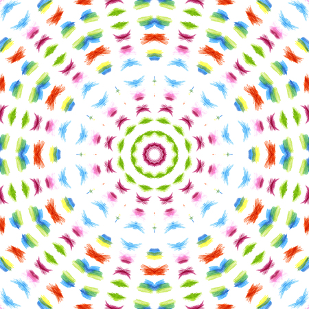 Abstract background with color concentric pattern on white photo