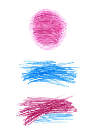 Abstract color pencil drawn design elements photo