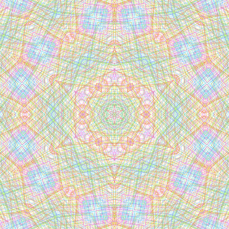 crossing tangle: Abstract with color concentric pattern