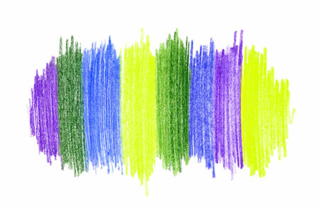 Abstract bright color hand drawn design element photo