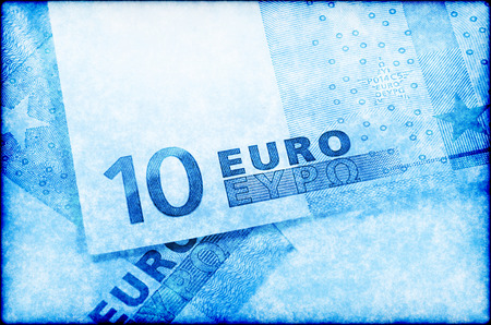 euromoney: Grunge abstract background with Euro money Stock Photo