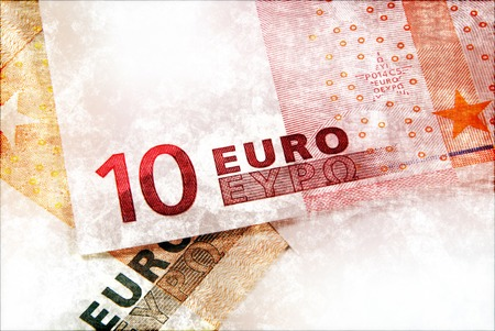 euromoney: Abstract grunge background with Euro money