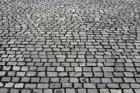 Paving stones street closeup background photo