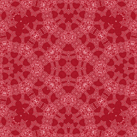 crimson: Abstract white pattern on red background Stock Photo