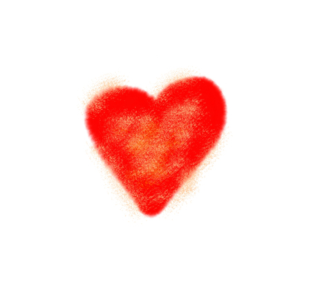 blurr: Abstract love symbol on white background