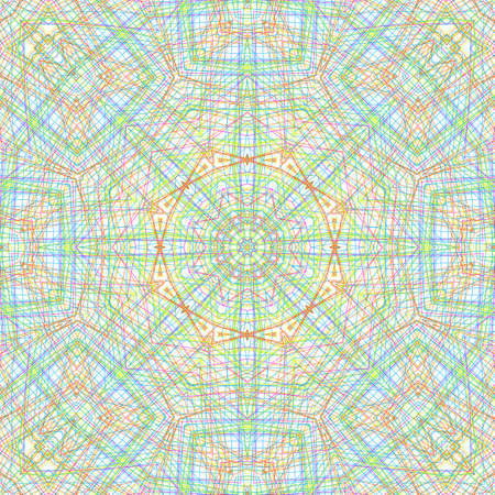 crossing tangle: Abstract background with color concentric pattern