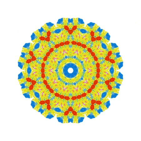 kaleidoscopic: Abstract color shape on white background