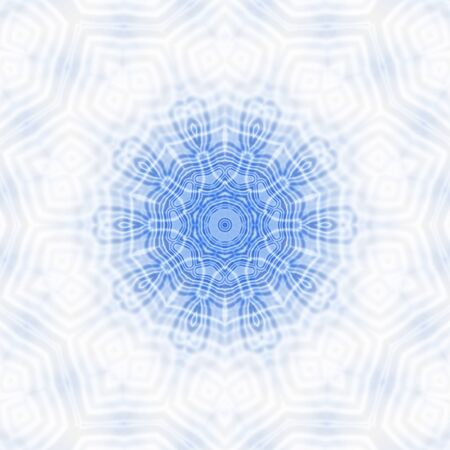 mirror frame: Blue and white background with abstract pattern