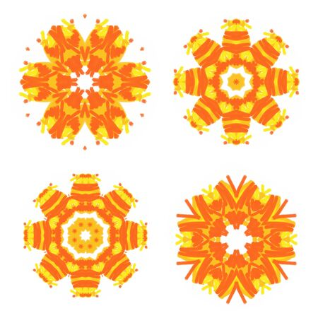 spot the difference: Set of bright abstract patterns for design Stock Photo
