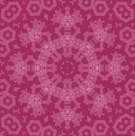 crimson: Abstract white pattern on crimson background Stock Photo