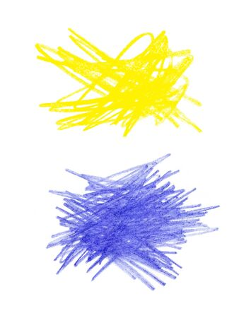series: Series of abstract color hand drawn design elements Stock Photo