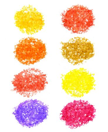 Set of abstract color elements on white background for design photo