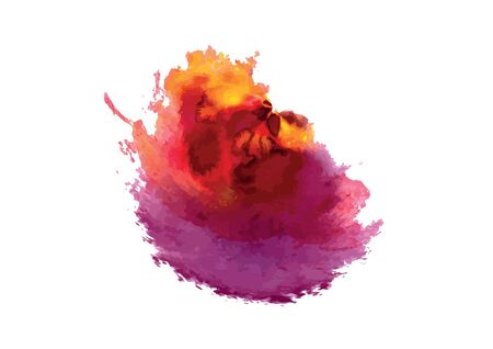 blots: Bright abstract color blots. Vector. Illustration