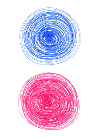 Abstract color round shapes on white background for design photo
