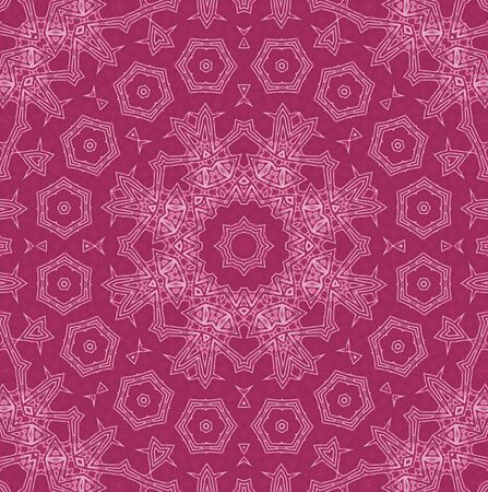 crimson: Abstract white pattern on crimson background Stock Photo