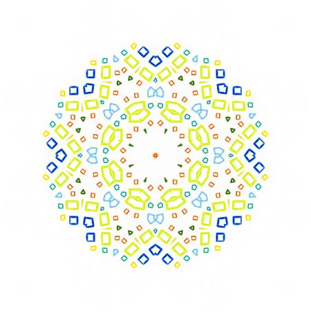 pied: White background with color concentric pattern shape