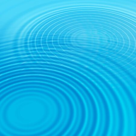 water droplets: Abstract blue background with water ripples Stock Photo