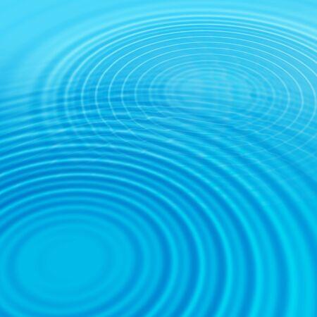 circulos concentricos: Resumen de fondo azul con ondas de agua Foto de archivo