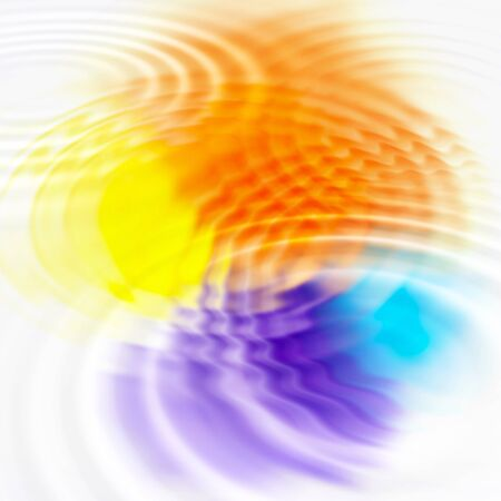 ripples: Abstract background with color spots and concentric ripples Stock Photo