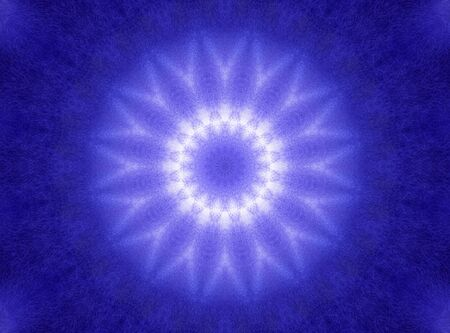 concentric: Blue watercolor background with abstract concentric pattern