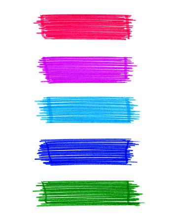 felt tip: Set of abstract color elements for design